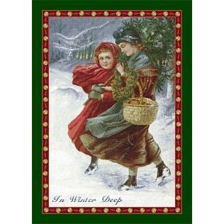 Milliken Holiday In Winter Deep Rug in Emerald-2.8x3.10 Rectangle