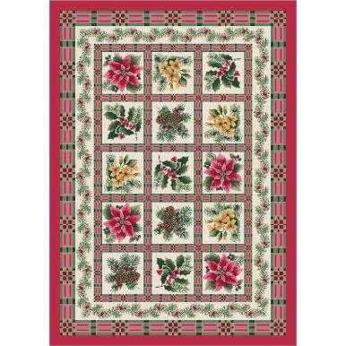 Milliken Holiday Yuletide Rug in Evergreen-2.8x3.10 Rectangle
