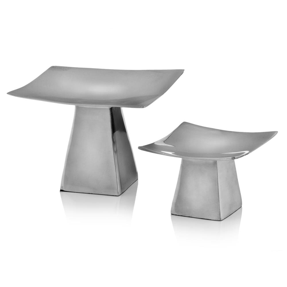 Modern Day Accents 3510 Anden Pedestal C/holders - Set of 2 in buffed