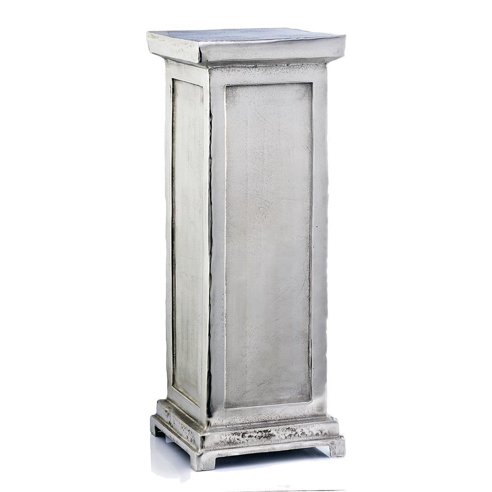 Modern Day Accents 3820 Peana Tall Roman Pedestal in rough silver