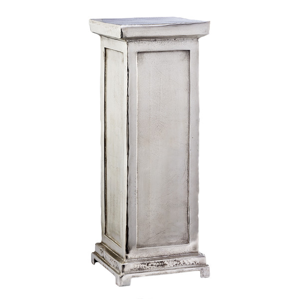 Modern Day Accents 3821 Peana Short Roman Pedestal in rough silver