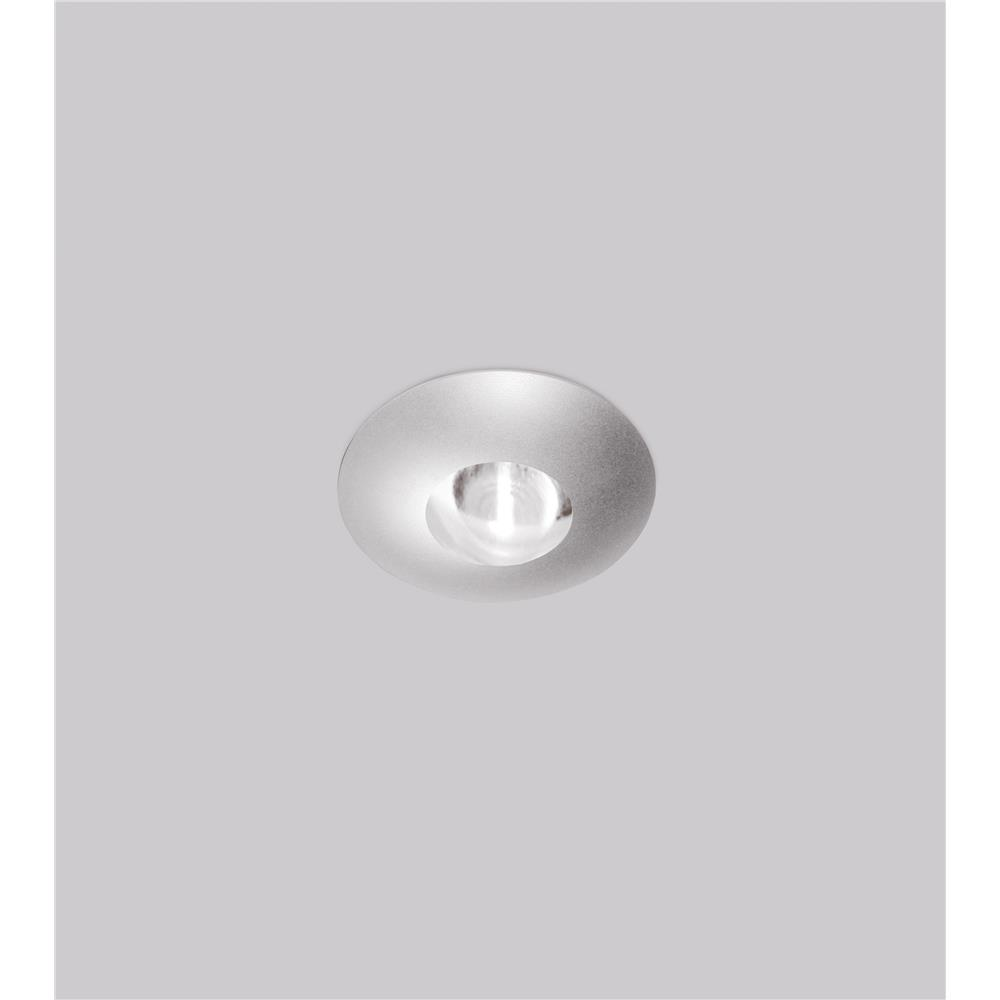 Molto Luce 56-10021 Vitrum Semi-Recessed LED Spotlight - Low Voltage - 5000K - Chrome - Clear Glass Lens  - J-Box/Drive Not Included