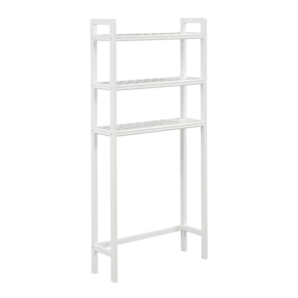 New Ridge Home Goods 2301-WHT Beaumont Solid Birch Wood Space Saver