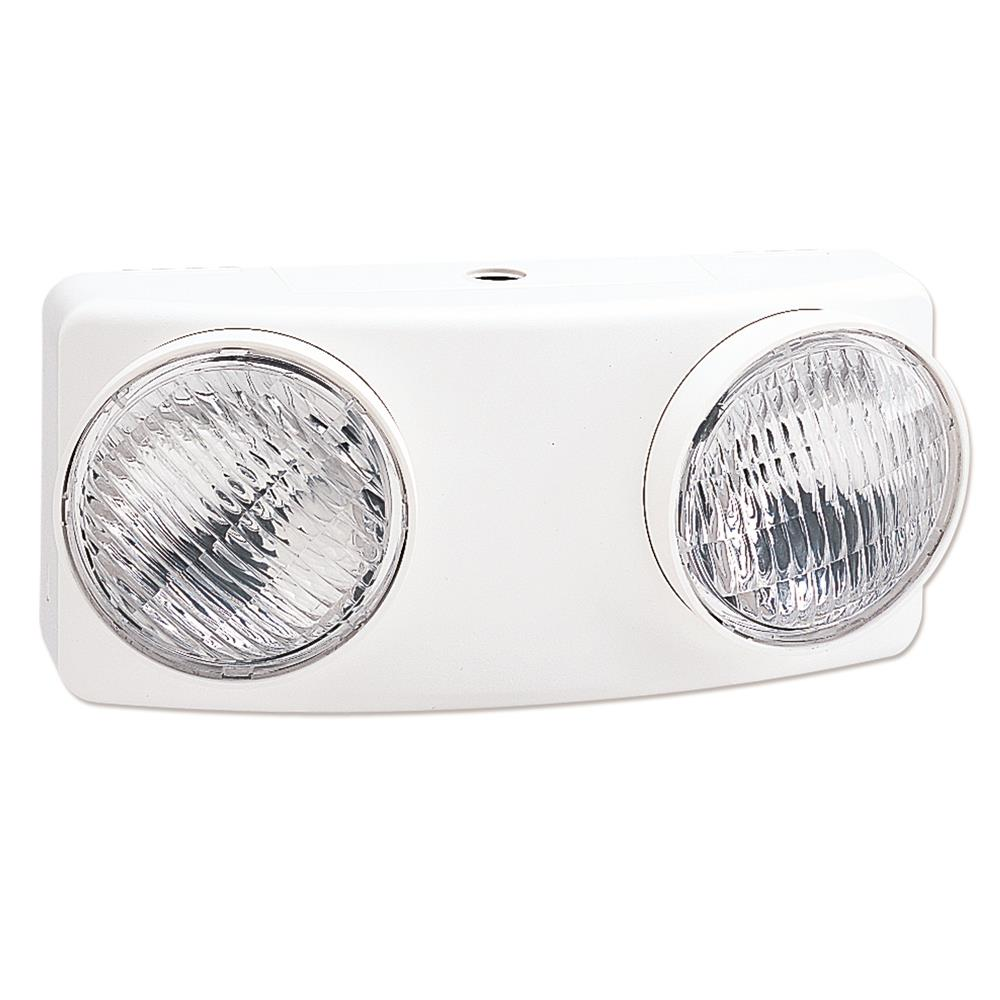 Nora Lighting NE-804 Emergency Light with Curved Face White