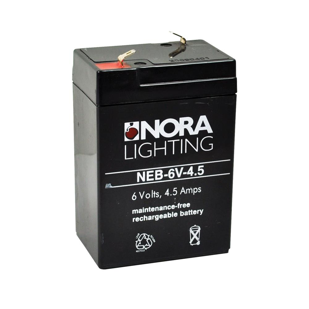 Nora Lighting NEB-6V-4.5 Replacement / Additional Battery 6V 4.5Ah