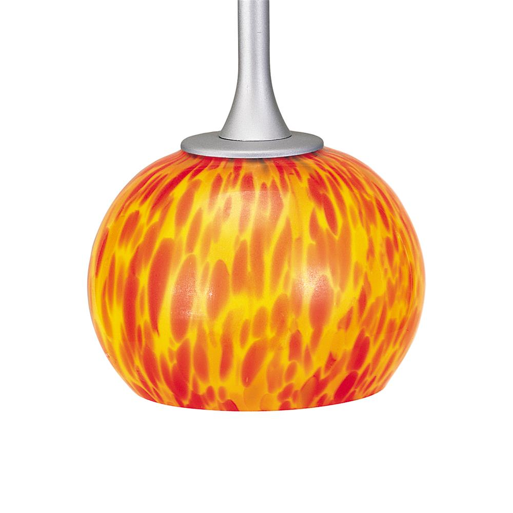 Nora Lighting NRS80-453RF Sol Glass Shade for Pendant in Red Fire