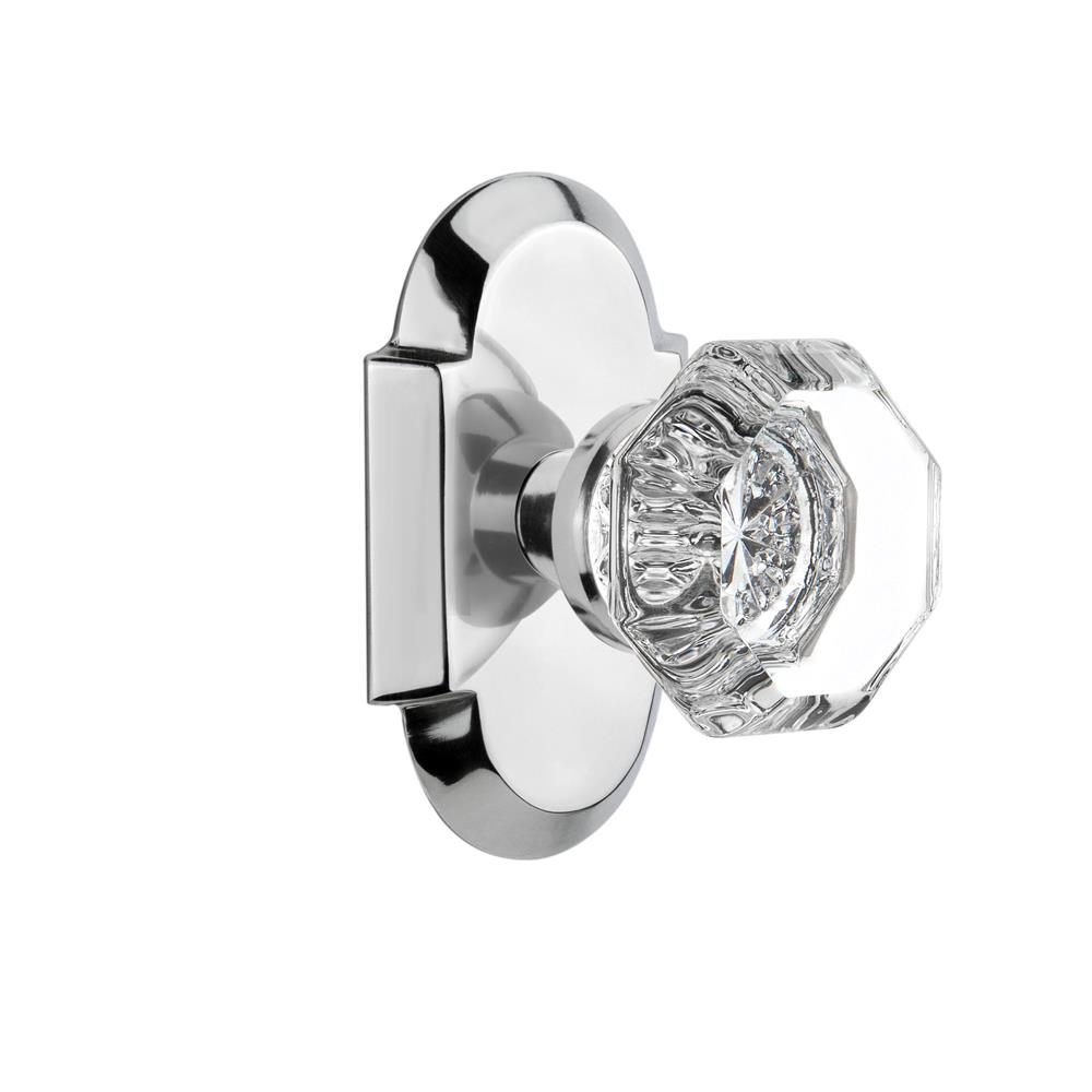 Nostalgic Warehouse COTWAL Single Dummy Knob Cottage Plate with Waldorf Knob in Bright Chrome