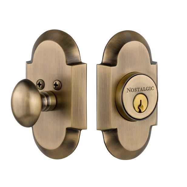 Nostalgic Warehouse COT Single Cylinder Deadbolt Keyed Differently Cottage in Antique Brass