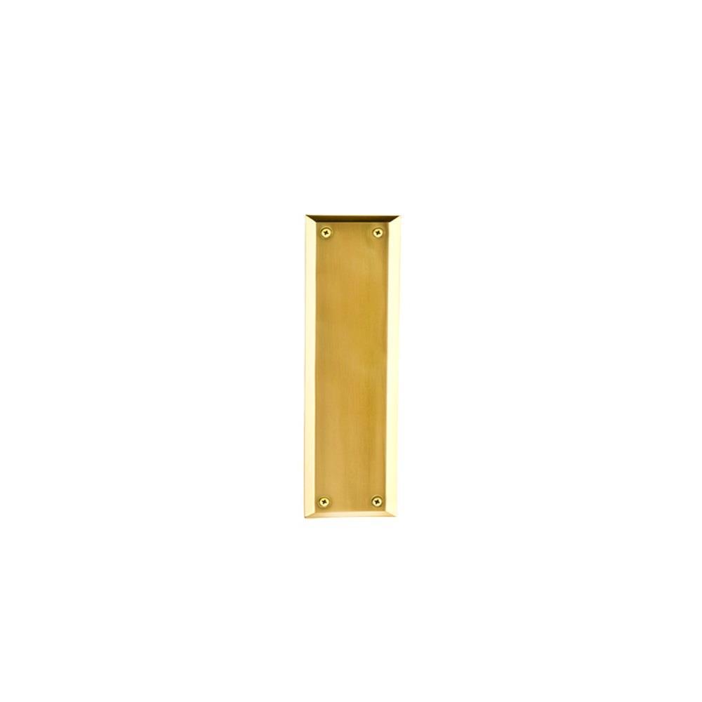 Nostalgic Warehouse NYK New York Pushplate in Polished Brass
