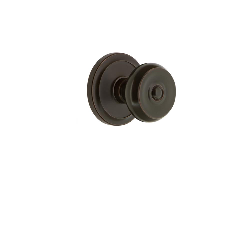 Grandeur by Nostalgic Warehouse CIRBOU Grandeur Circulaire Rosette Dummy with Bouton Knob in Timeless Bronze