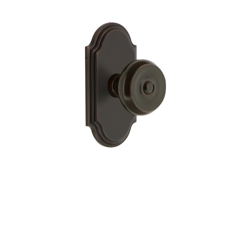 Grandeur by Nostalgic Warehouse ARCBOU Grandeur Arc Plate Dummy with Bouton Knob in Timeless Bronze