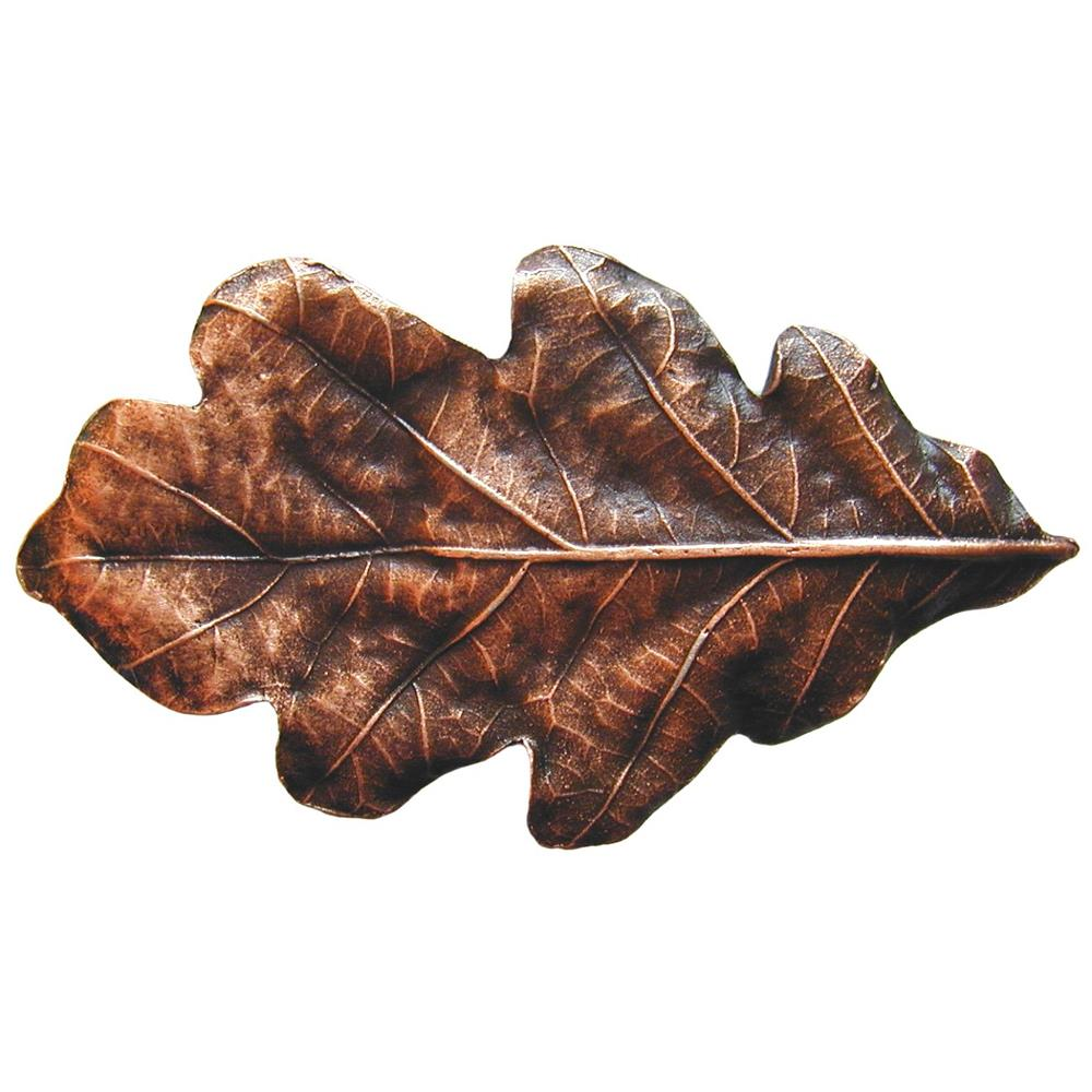 Notting Hill NHK-144-AC Oak Leaf Knob Antique Copper