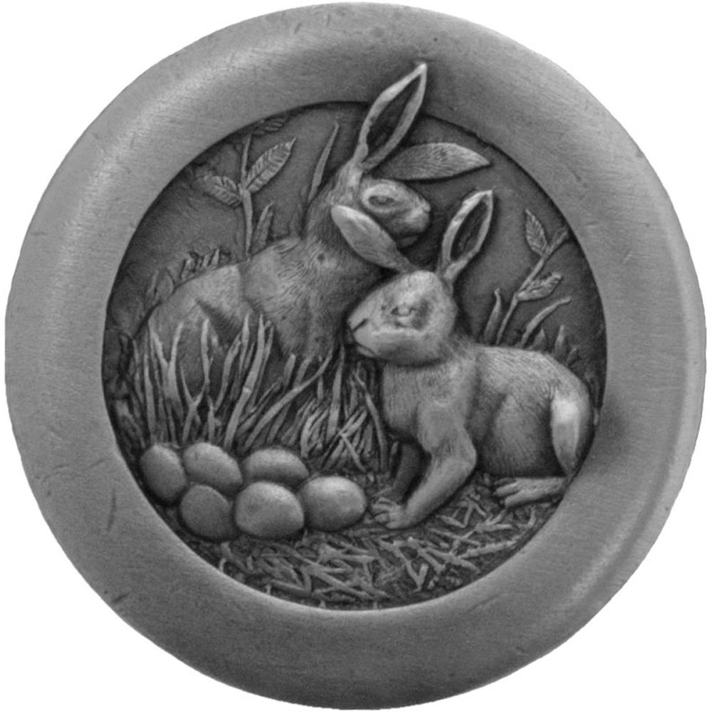 Notting Hill NHK-166-AP Rabbits Knob Antique Pewter
