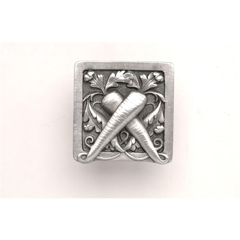 Notting Hill NHK-252-AP Leafy Carrot Knob Antique Pewter