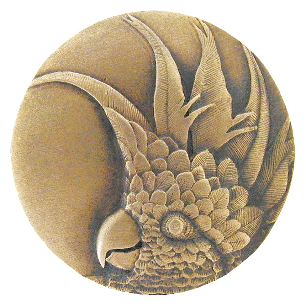 Notting Hill NHK-324-AB-R Cockatoo Knob Antique Brass (Small - Right side)