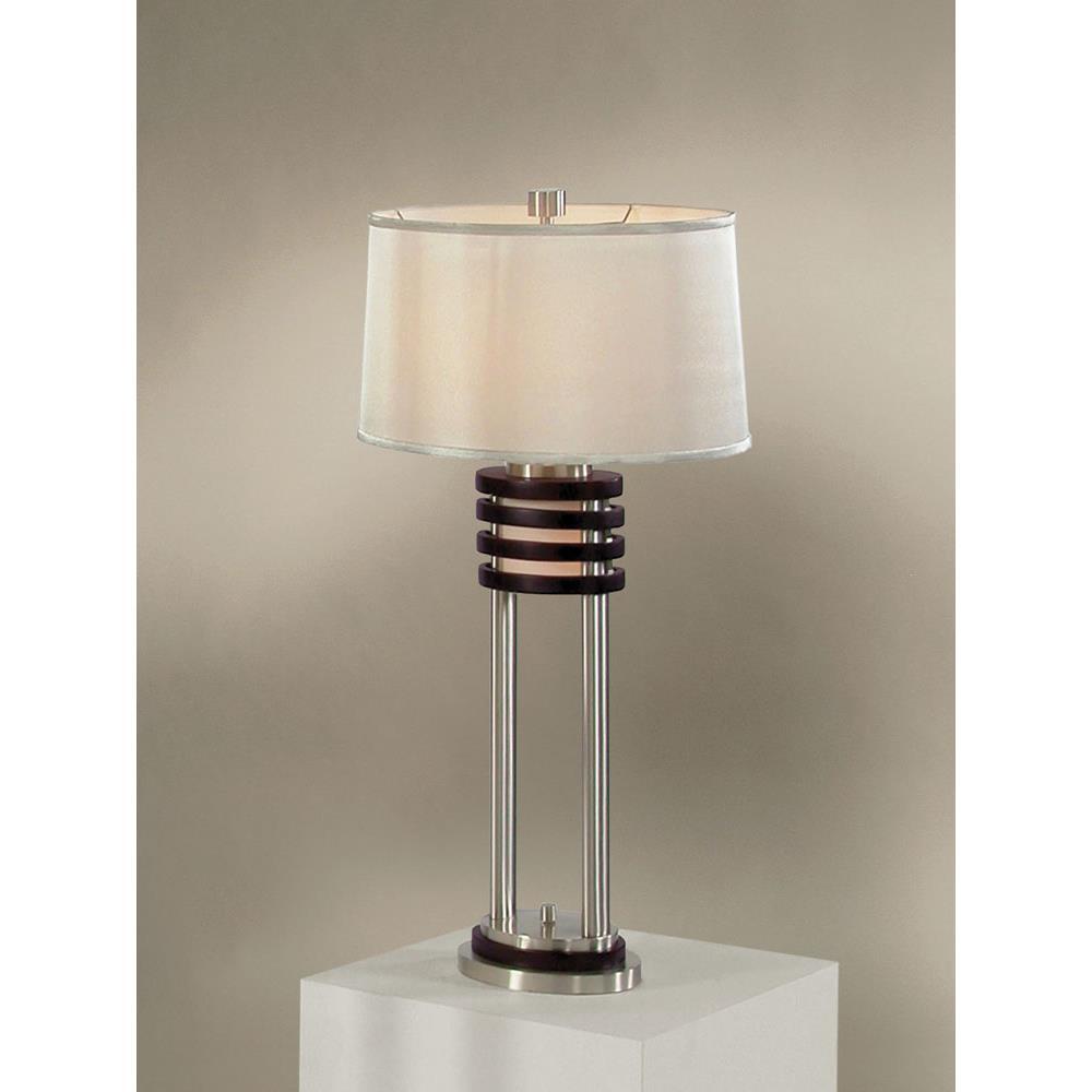 Nova Lamps 0327DS Kobe Table Lamp In Brushed Nickel