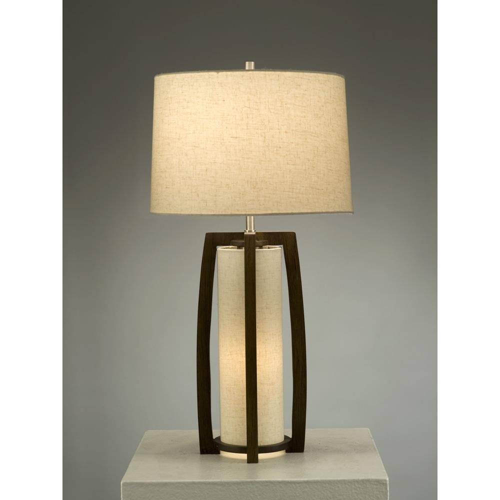 nova lighting 1010177 britta table lamp in pecan brushed nickel. Black Bedroom Furniture Sets. Home Design Ideas