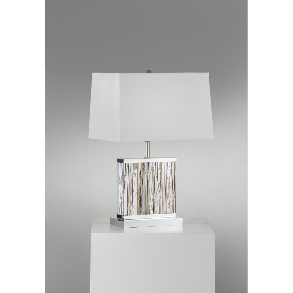 Elegant Jon Gilmore Design By Nova Lamps 1310641 Pampa Accent Table Lamp In Silver