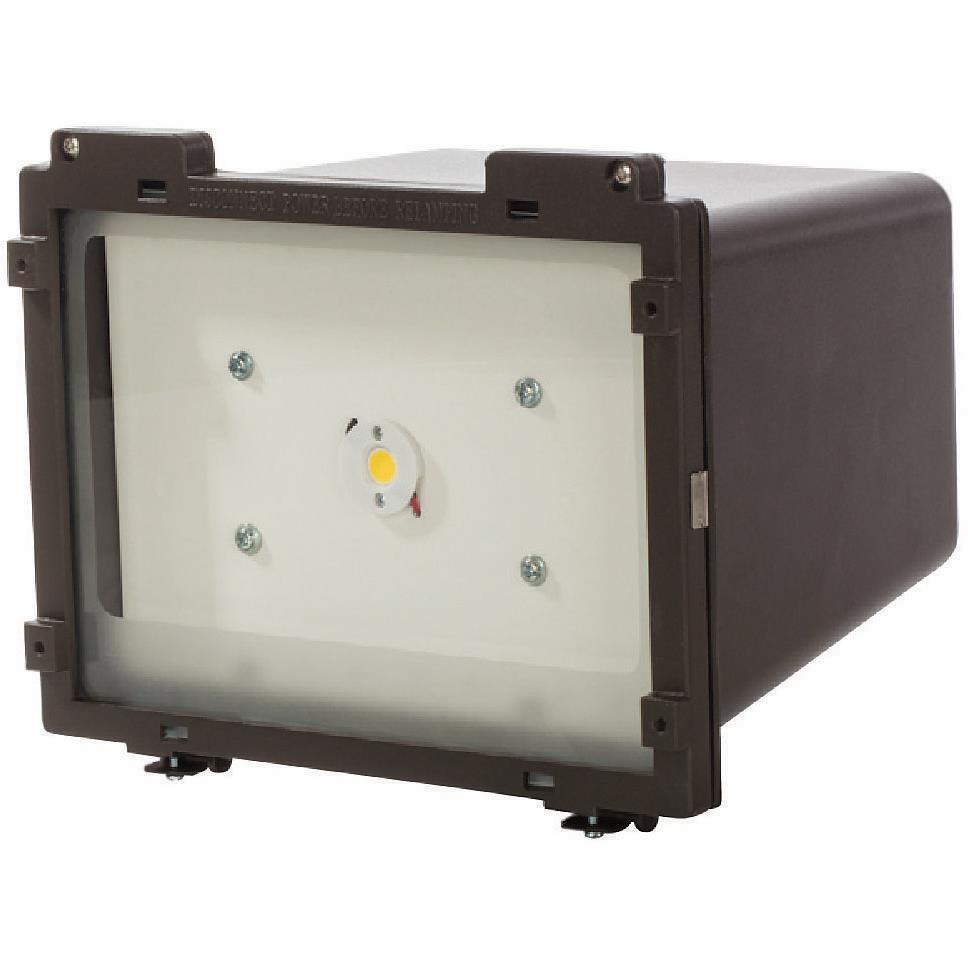Nuvo Lighting 65/071 LED Square Flood Light; ½? Threaded Knuckle Mount; 22 Watt; Bronze Finish; 120-277V
