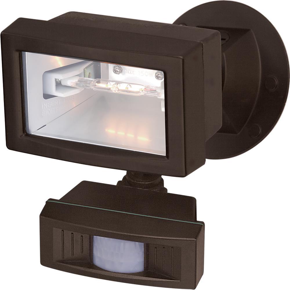 "Nuvo Lighting 76/505 1 Light - 5"" - Flood Light, Exterior - Mini Halogen w/Motion Sensor"