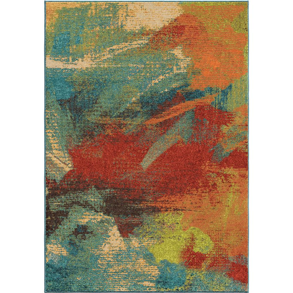 Orian Rugs 2815 5x8  Bright Color Abstract Impressions Multi Area Rug (5
