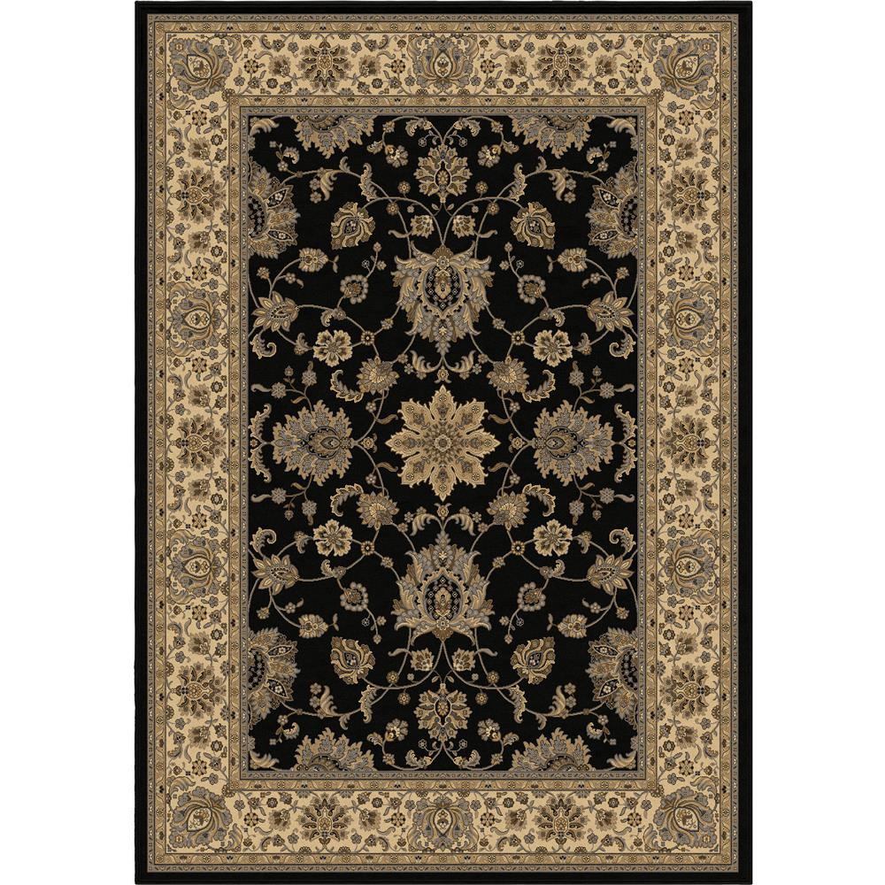 Orian Rugs 1235 2x8  Detailed Design Traditional Borokan Black Runner (2