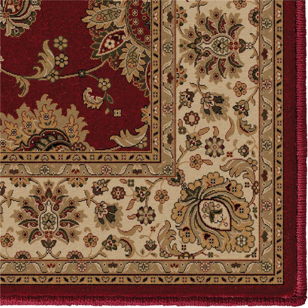 Orian Rugs 1243 2x8  Detailed Design Traditional Borokan Burgundy Runner (2