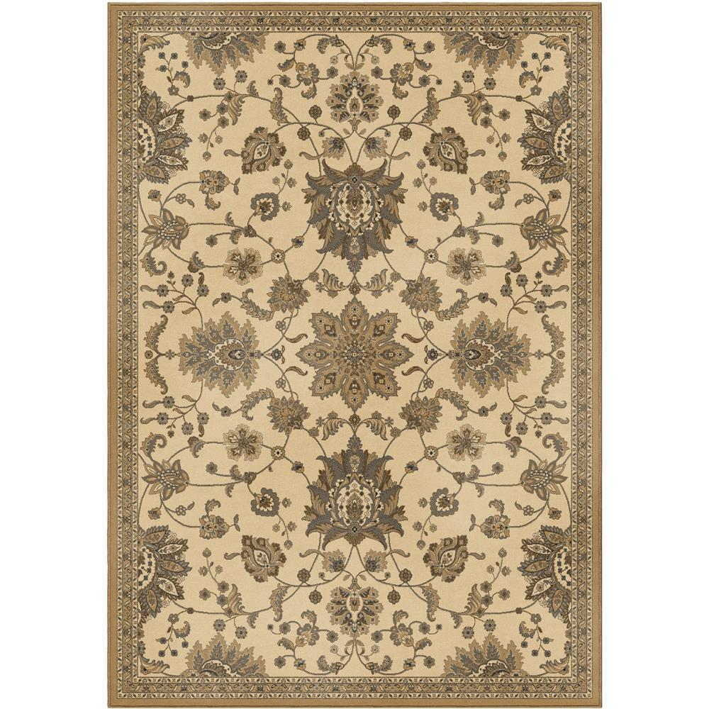 Orian Rugs 3309 5x8  Detailed Design Traditional Khan Ivory Area Rug (5
