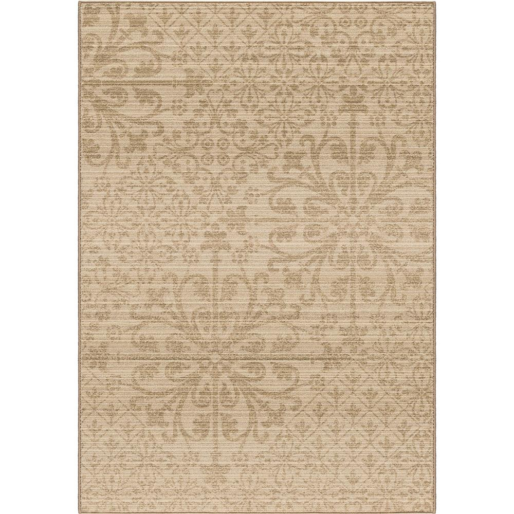 Orian Rugs 2718 5x8  Unique Designs Scroll Messina Beige Area Rug (5