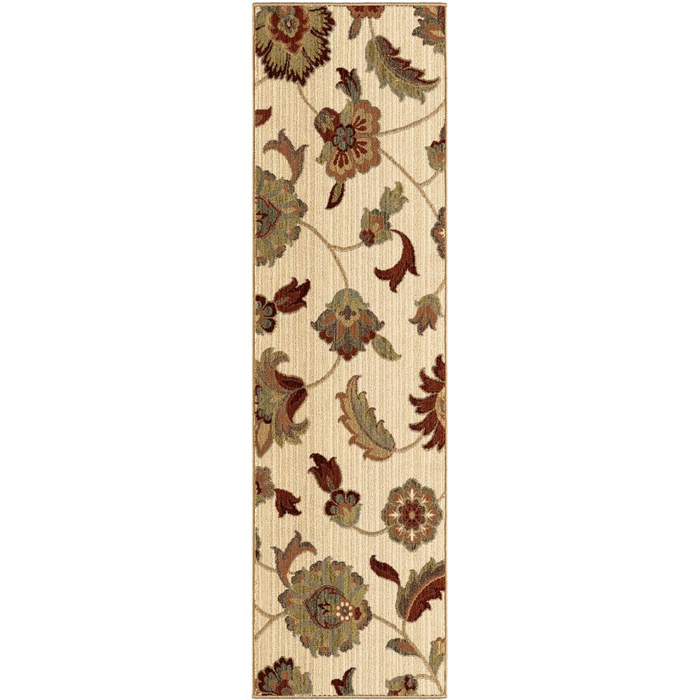 Orian Rugs 1402 2x8  Unique Designs Floral Frazier Ivory Runner (2