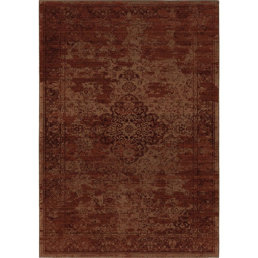 Orian Rugs 3511 5x8  Indoor Damask Faded Morocco Burgundy Area Rug (5