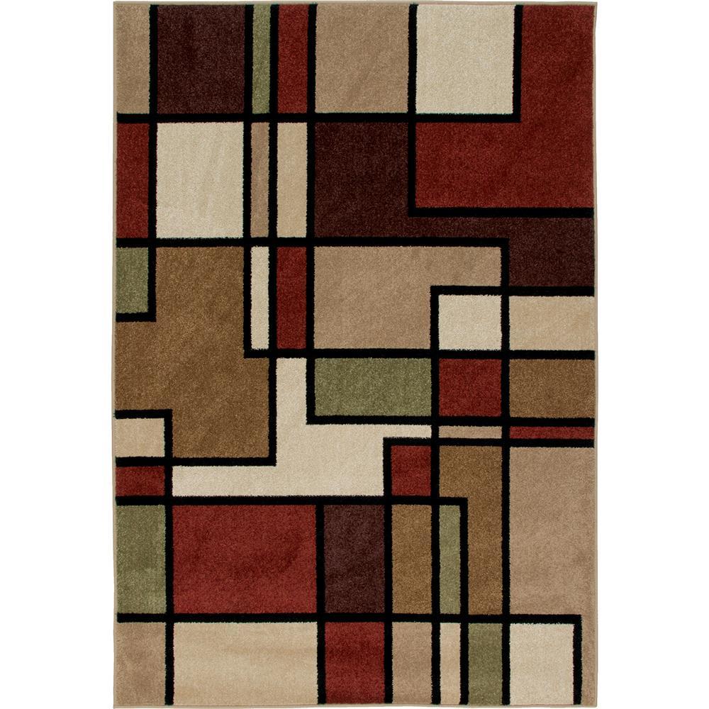 Orian Rugs 1820 2x8  Indoor/Outdoor Blocks Thorburn Multi Area Rug (2