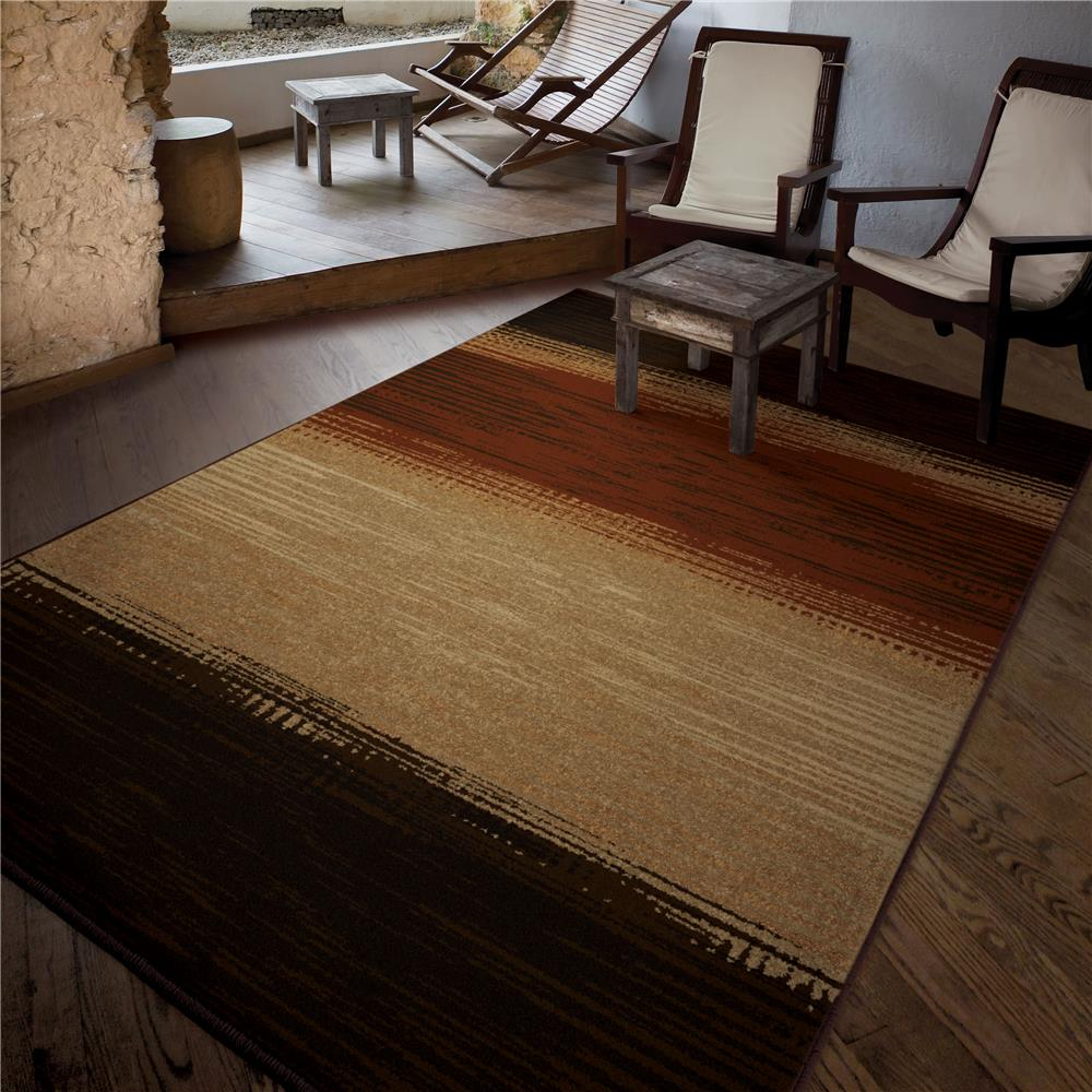 Orian Rugs 1837 5x8  Indoor/Outdoor Stripes Allendale Multi Area Rug (5