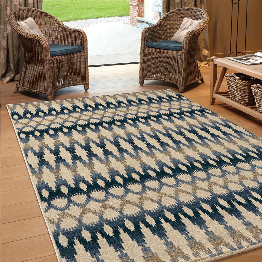 Orian Rugs 1840 5x8  Indoor/Outdoor Southwest Links Ikat Ombre Multi Area Rug (5