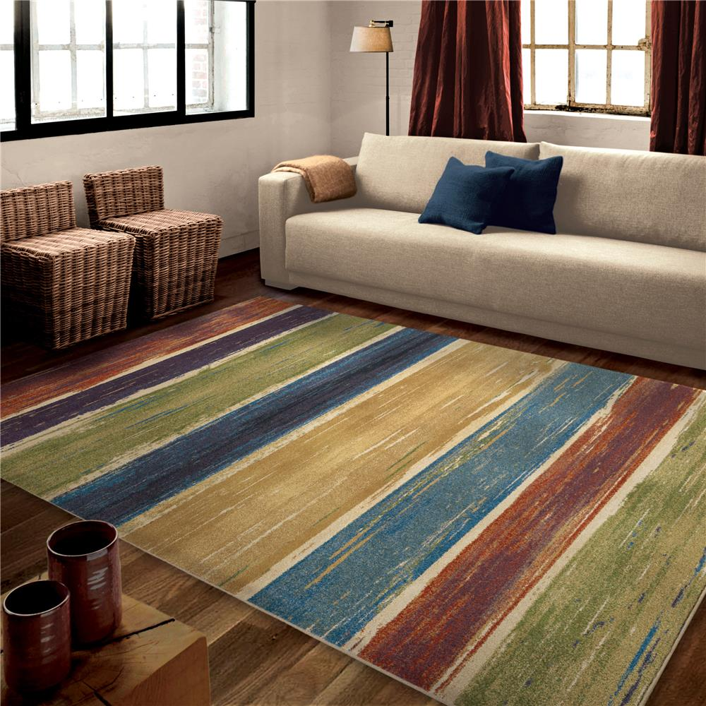 Orian Rugs 3836 5x8 Bright Color Abstract Beach