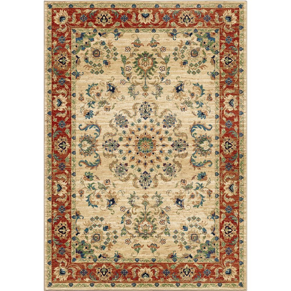 Orian Rugs 3809 5x8  Unique Coloring Traditional Promenade Ivory Area Rug (5