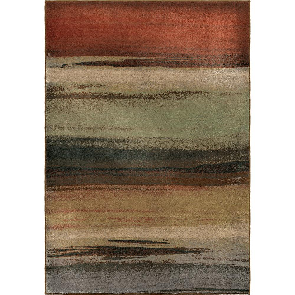 Orian Rugs 3202 5x8  Insanely Soft Stripes Washout Multi Area Rug (5