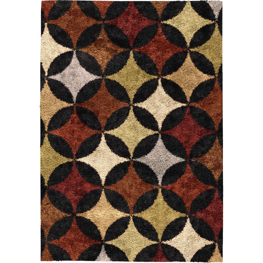Orian Rugs 1718 5x8  Shag Geometric Pelzer Multi Area Rug (5