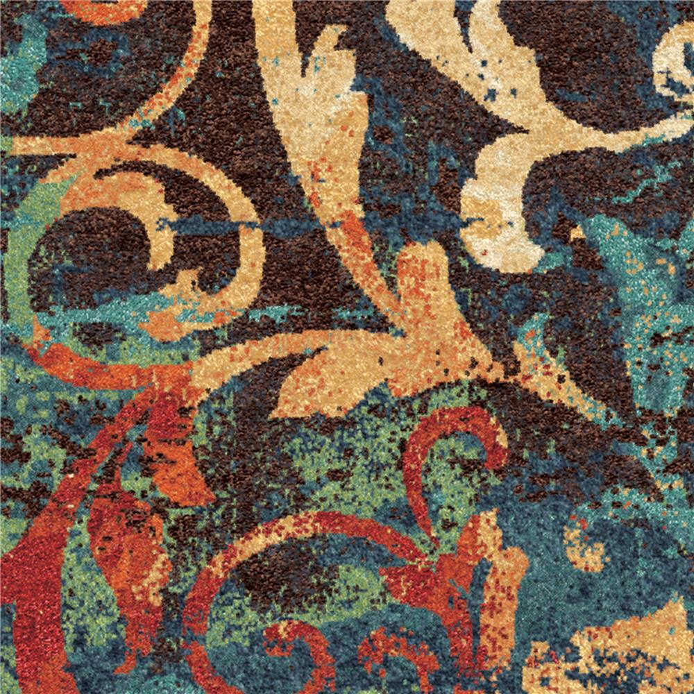 Orian Rugs 2818 2x8  Bright Color Scroll Nepal Scroll Multi Runner (2