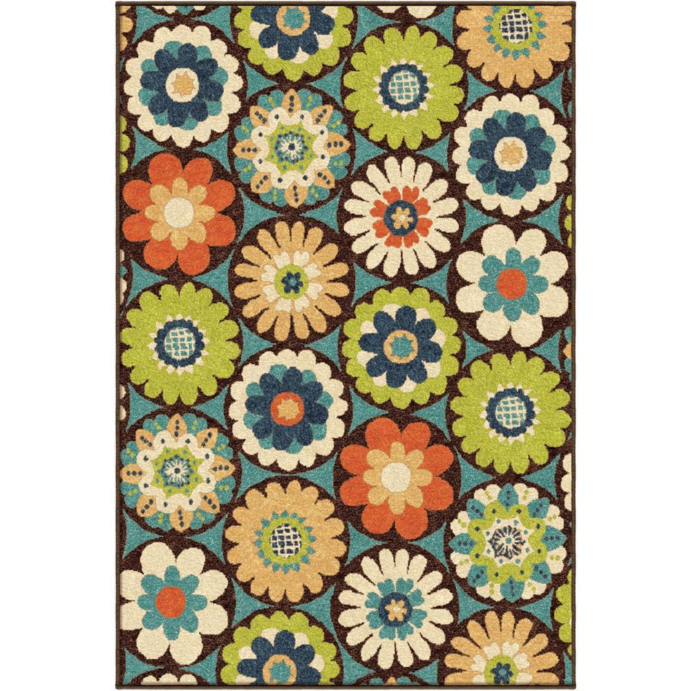 Orian Rugs 2315 2x8  Indoor/Outdoor Floral Vissage Multi Runner (2