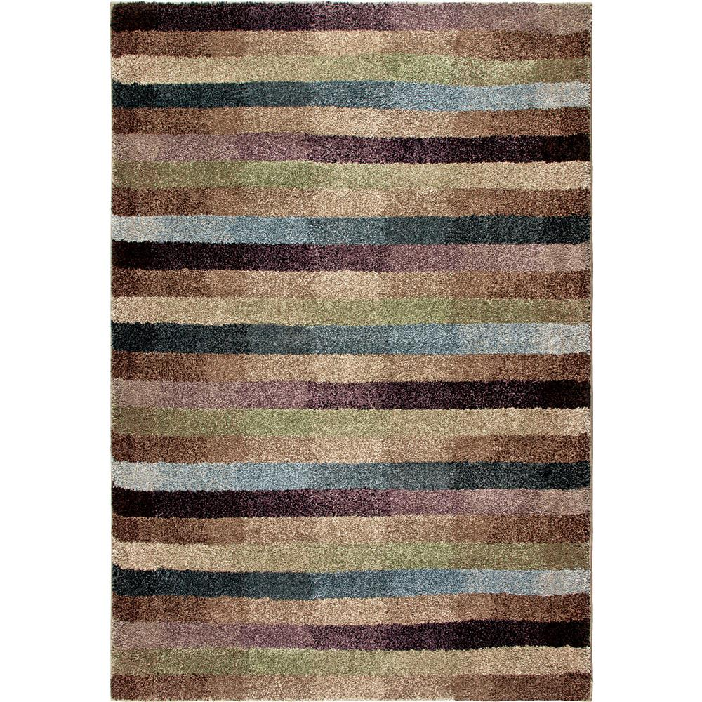 Orian Rugs 1604 2x8  Plush Stripes Dynamic Multi Runner (2