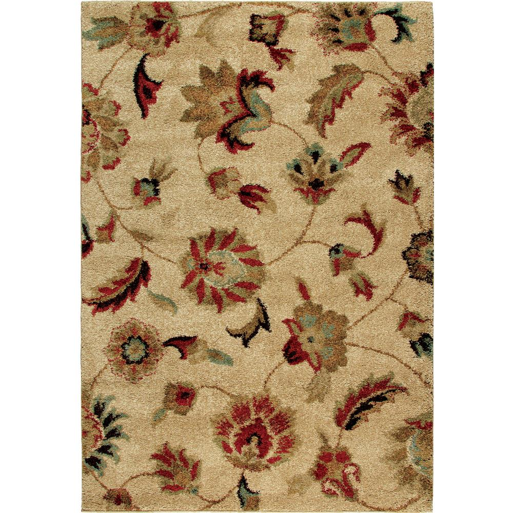 Orian Rugs 1621 2x8  Plush Floral London Beige Runner (2