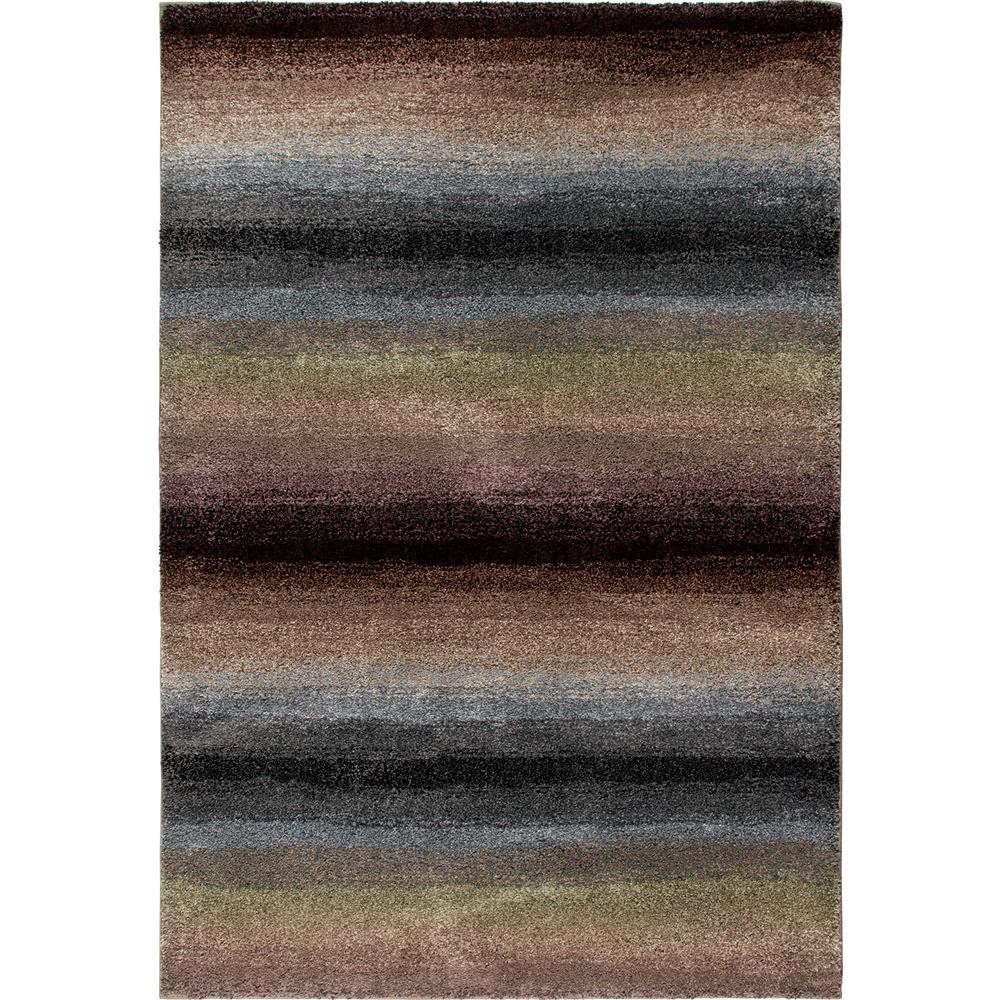 Orian Rugs 1624 2x8  Plush Stripes Skyline Multi Runner (2