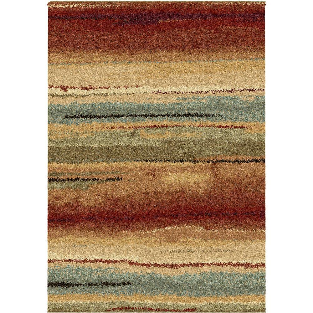 Orian Rugs 1631 2x8  Plush Stripes Dusk to Dawn Multi Runner (2
