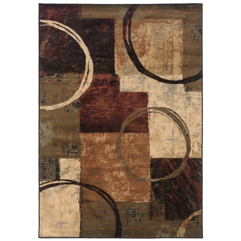 Oriental Weavers 2544B Hudson Brown 1.10 X  3. 3 Area Rug