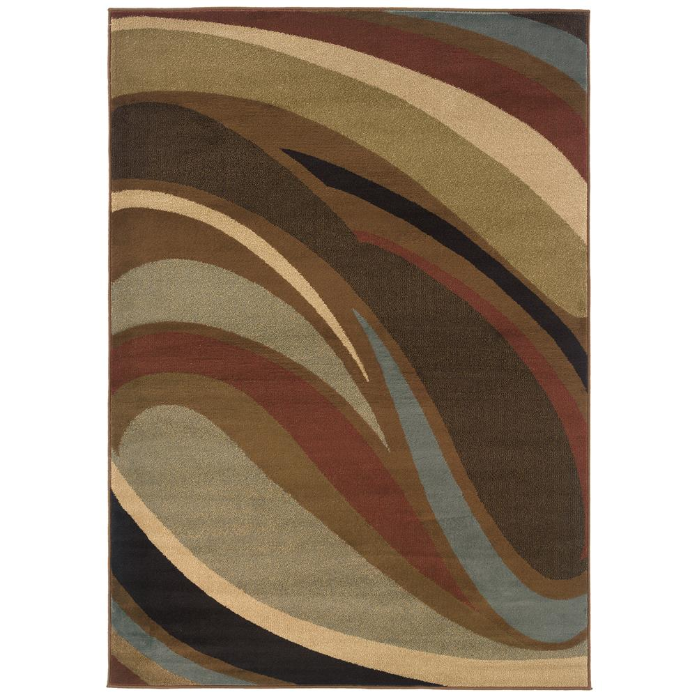 Oriental Weavers 2666F Hudson Brown 1.10 X  3. 3 Area Rug