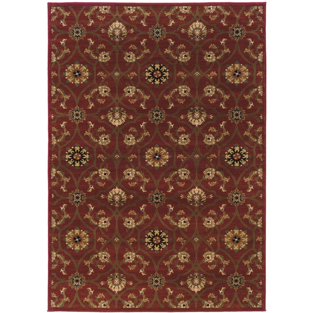 Oriental Weavers 3299A Hudson Red 1.10 X  3. 3 Area Rug