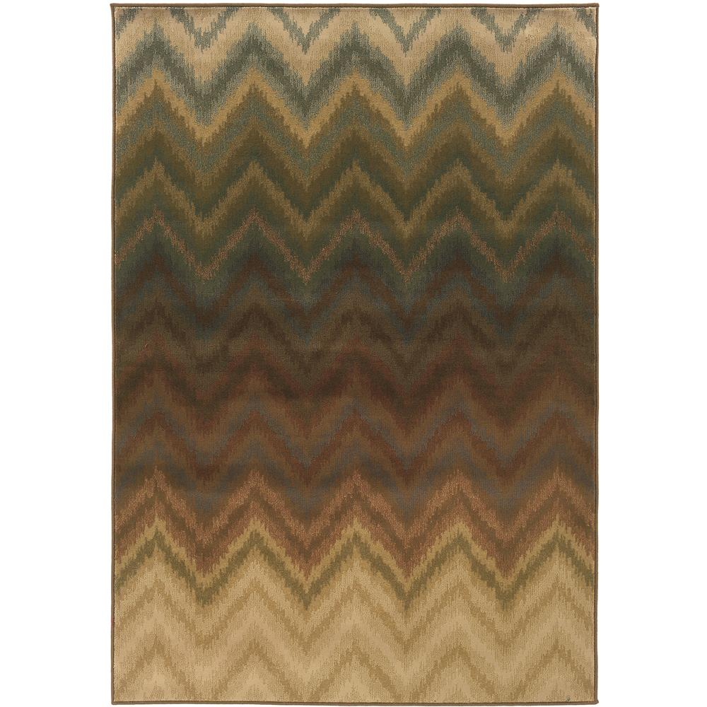 Oriental Weavers 3458A Hudson Brown 1.10 X  3. 3 Area Rug