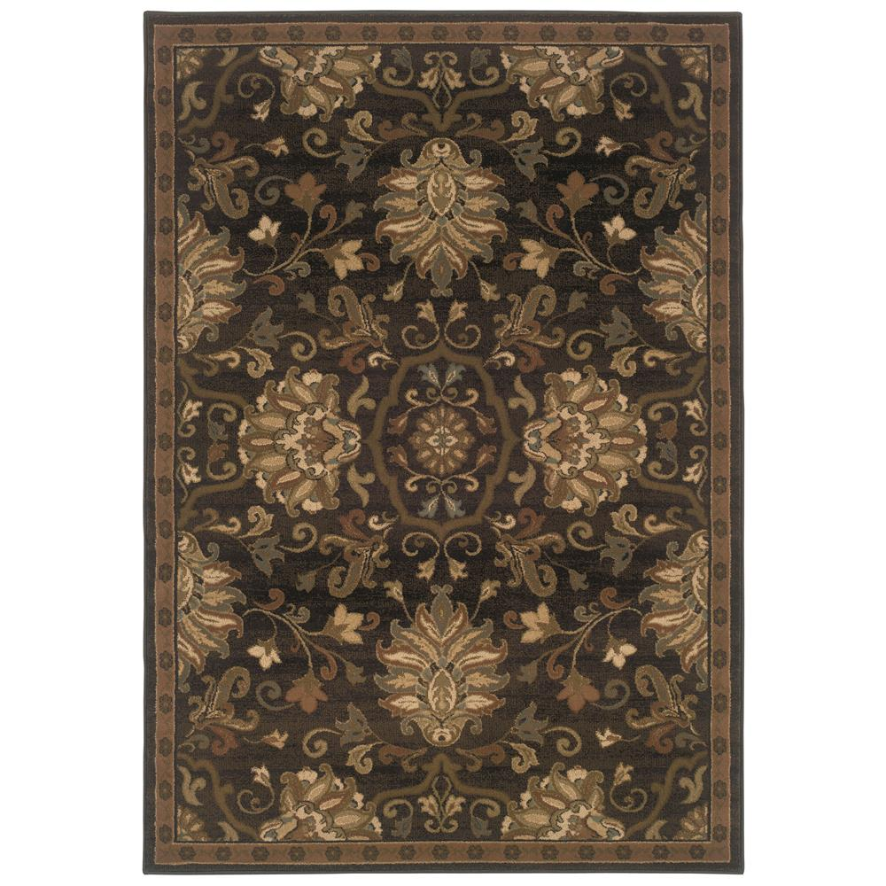 Oriental Weavers 042G1 Hudson Brown 1.10 X  3. 3 Area Rug