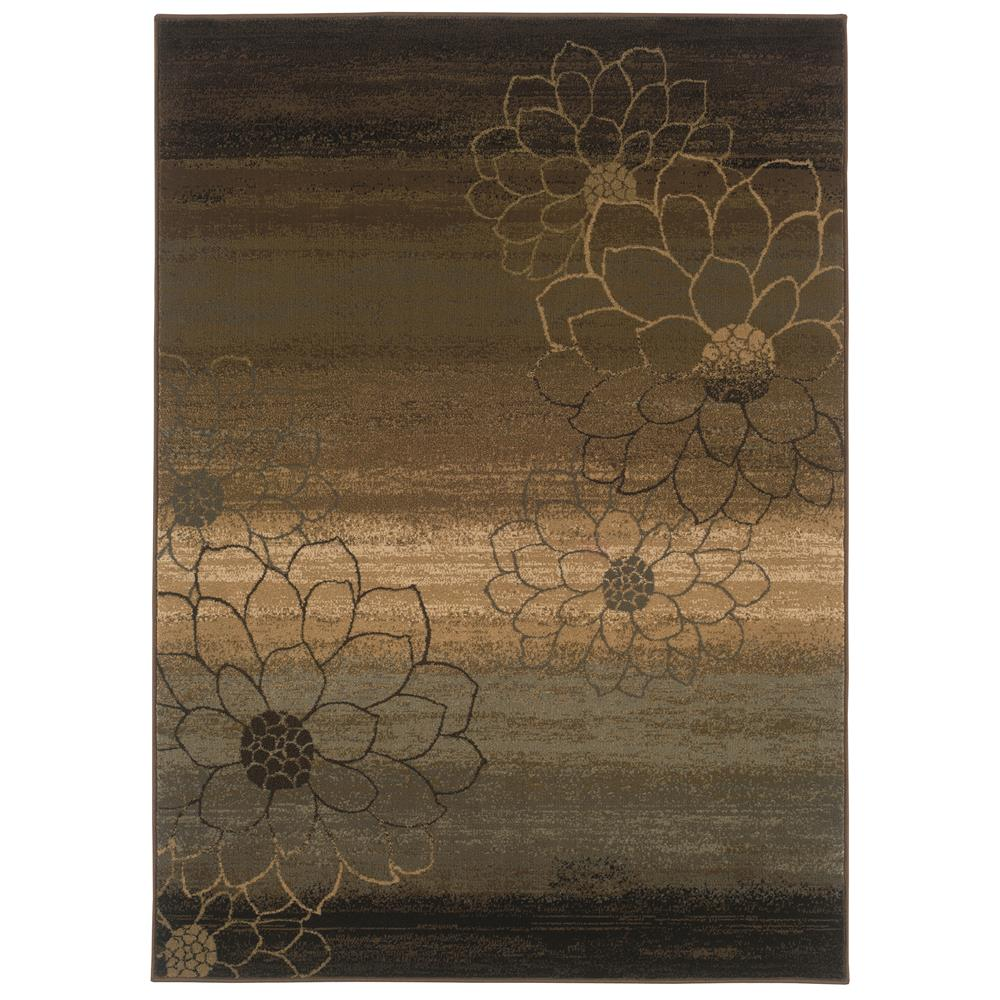 Oriental Weavers 074A1 Hudson Brown 1.10 X  3. 3 Area Rug
